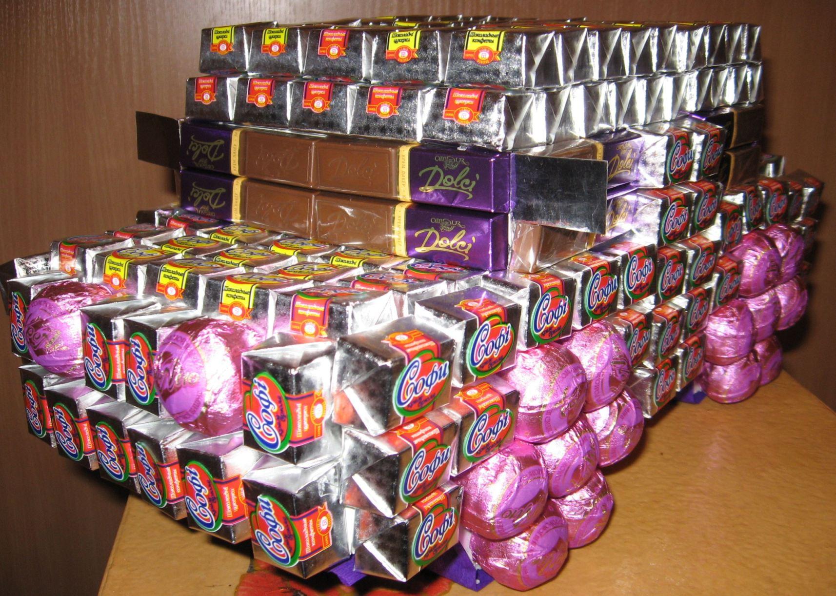 Машина из конфет фото 7